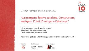20140905 Invitacio jornada. La imatgeria festiva catalana